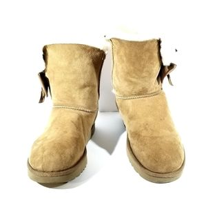 UGG Daelynn Shearling Boot Brown Womens Size 11